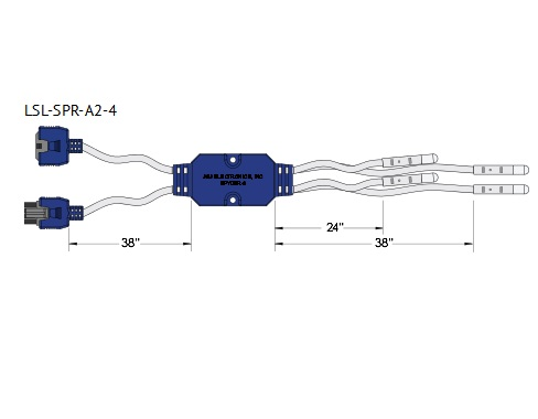 Perimeter Lighting - J&J 4 Strand LED Spyder (#1311A)