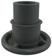 Filter Weir Assembly - CMP Elite LoFlo T/M - Graphite (#25351907100)