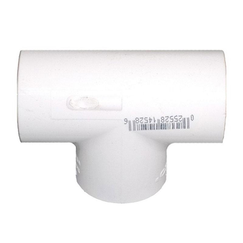"PVC Tee - 2-1/2"" x 2-1/2"" x 2-1/2"" Slip Tee (#401025)"