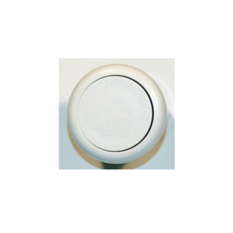 Air Button - Pres Air Trol, Flush Fit, White (#5133)