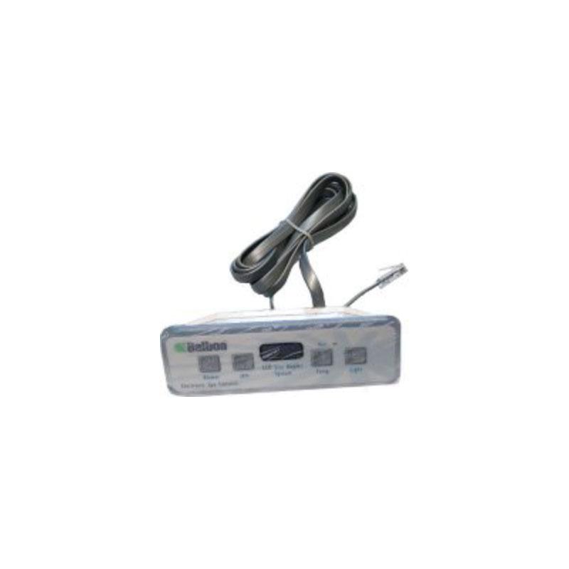 Topside - Balboa 4-button Lite Duplex Digital LCD (#54094)