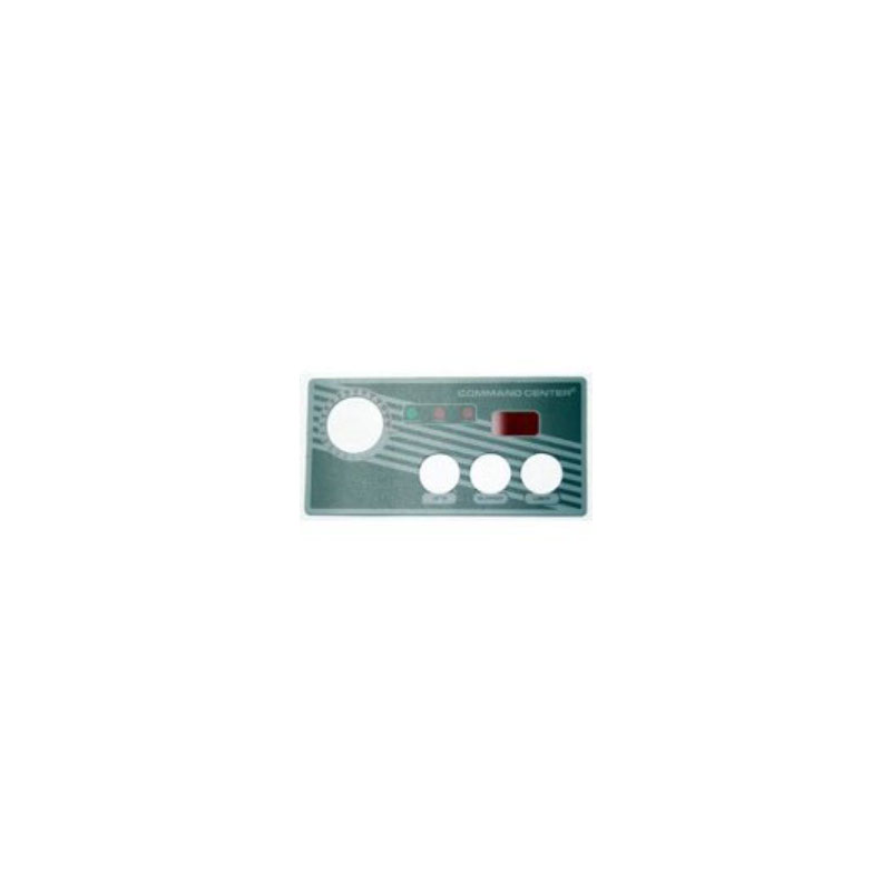 Topside Overlay - Tridelta/Tecmark 3-Button w/ LED (#5484)