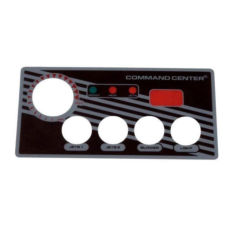 Topside Overlay - Tridelta/Tecmark 4-Button w/ LED (#5486)