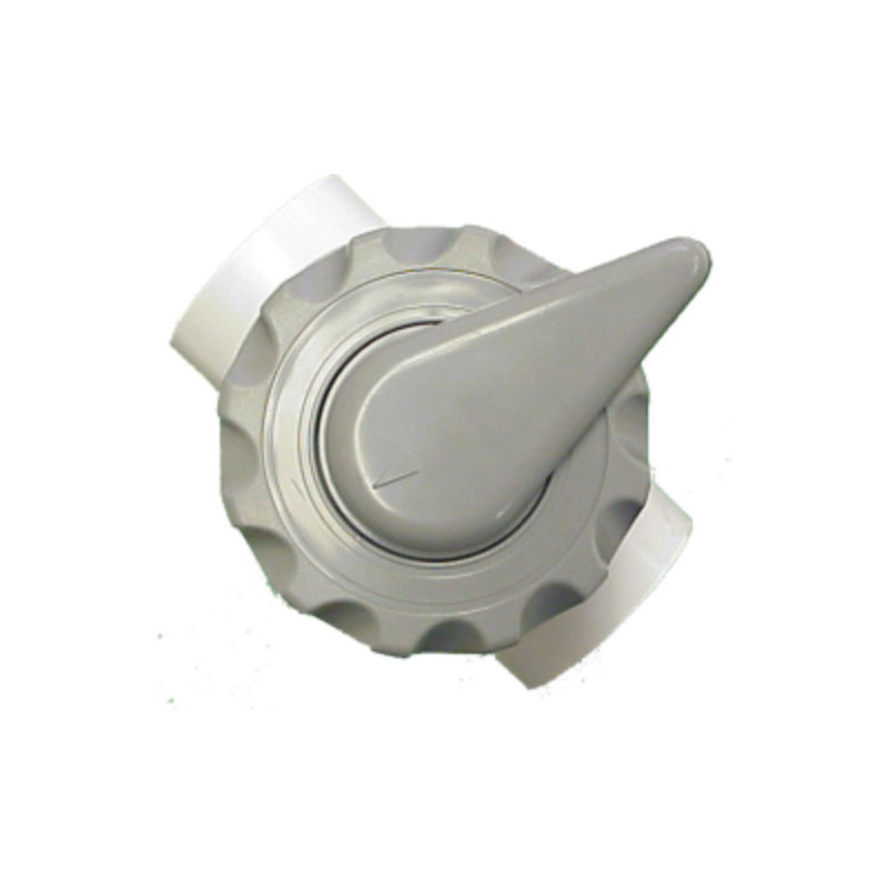 Diverter Valve - White Notched w/ 3-Ports 2