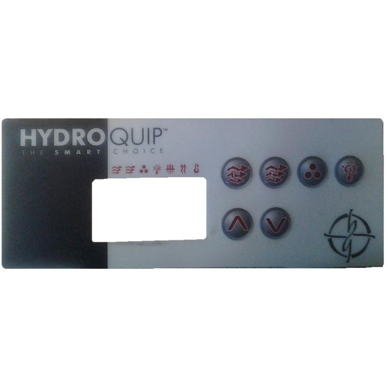 Topside Overlay - Hydro Quip ECO3 6-button Digital (#6085)