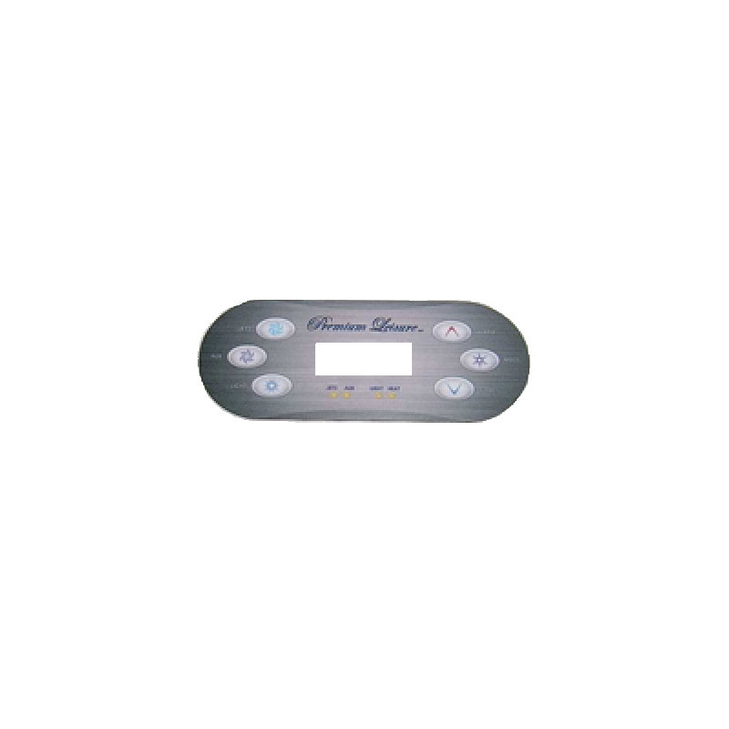 Topside Overlay - Balboa VL600 6-button Digital (#7511A)