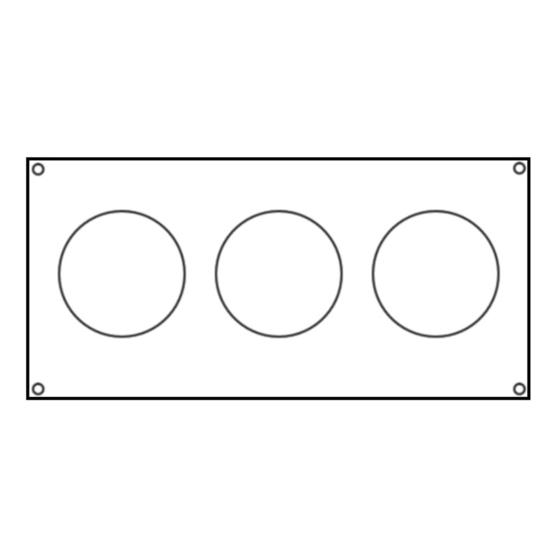 Mounting Plate - Len Gordon 3-Air Button Template