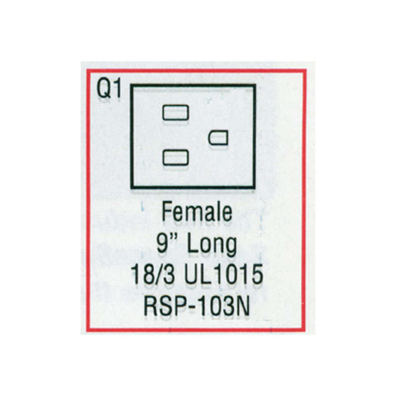 Receptacle - Female Large J/J Nema (#RSP103N)