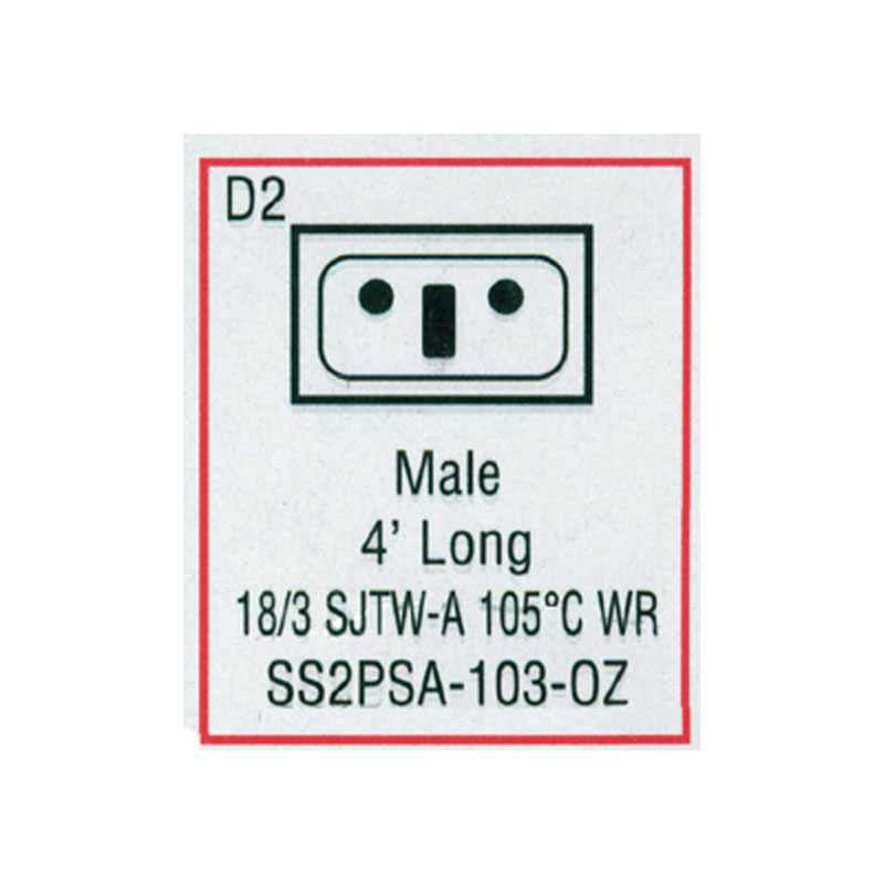 Cord - Male Mini J/J for Ozone (#SS2PSA103OZ)