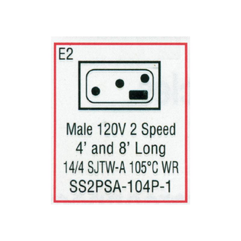 "Cord - Male Mini J/J 48"" 4-wire for Pump 1 - (#SS2PSA104P1)"