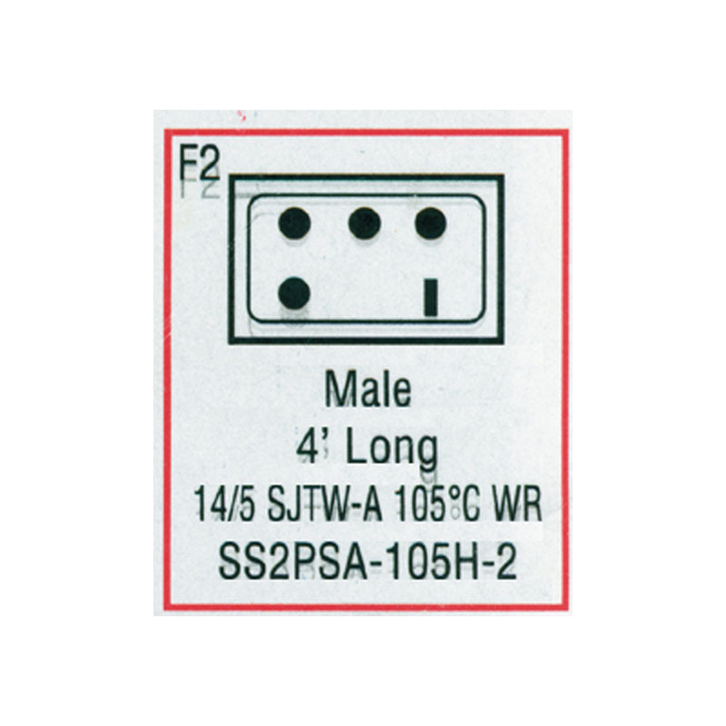 Cord - Male Mini J/J 5-wire for Heater (#SS2PSA105H2)