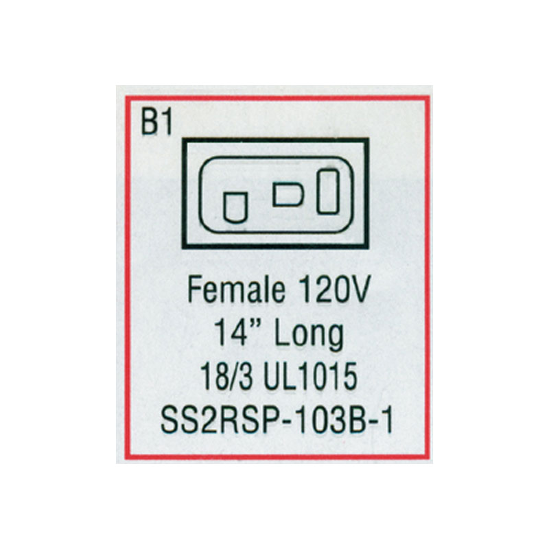 Receptacle - Female Mini J/J Blower (#SS2RSP103B1)