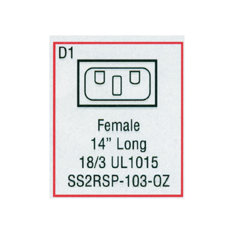 Receptacle - Female Mini J/J Ozone (#SS2RSP103OZ)