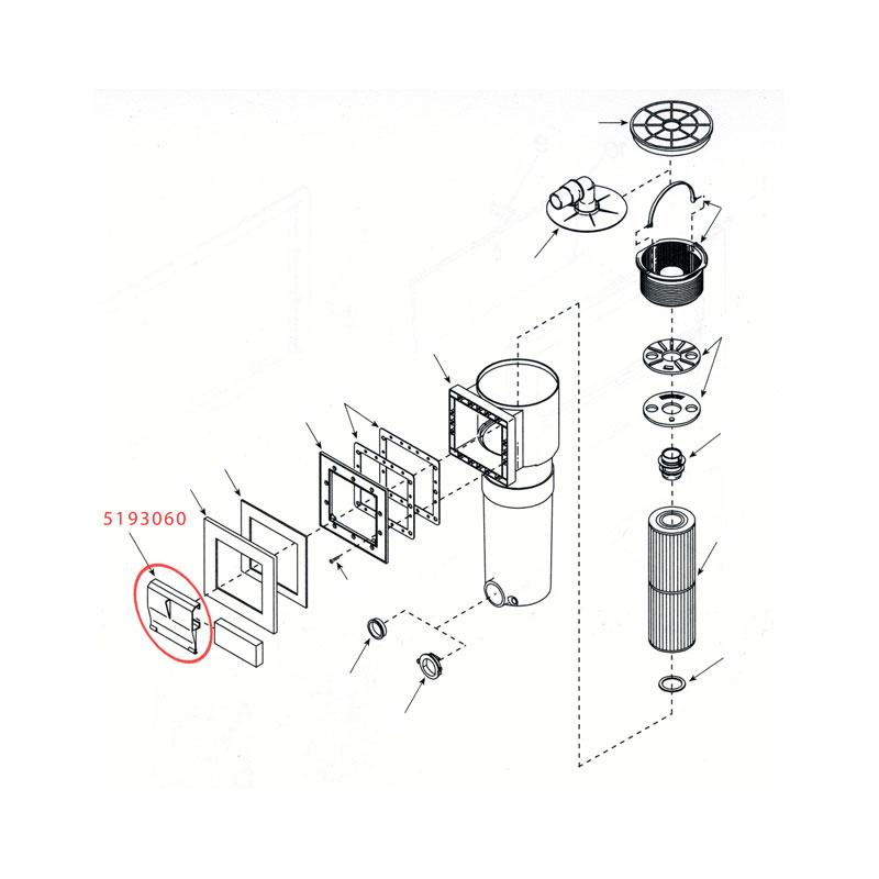 "Weir Door - WW Front Access Filter - 5-5/8""- White (#5193060)"