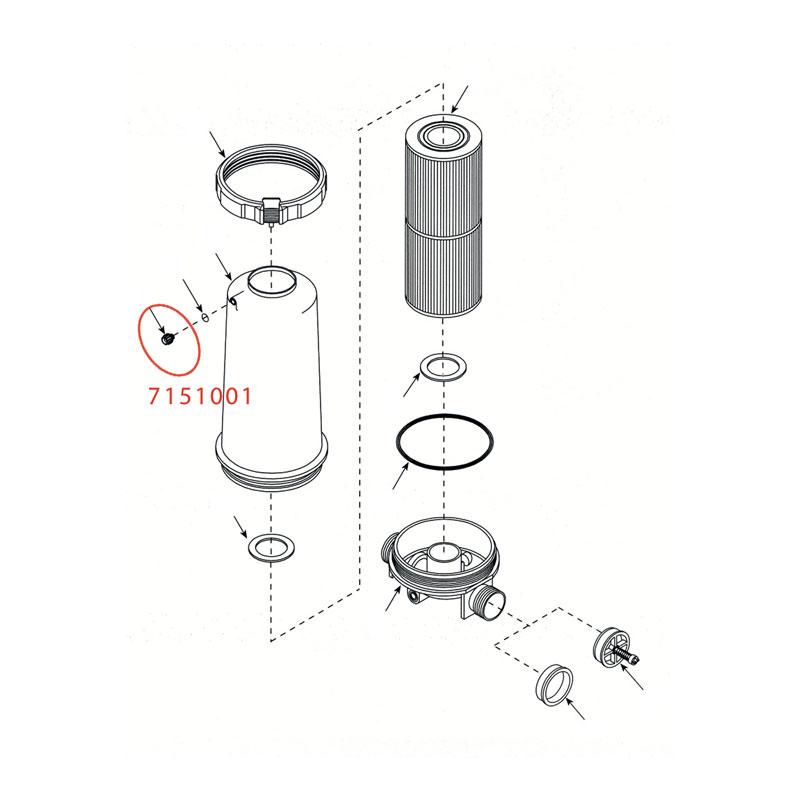 Pressure Filter Bleeder Valve (#7151001)